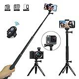 Selfie Stick, JPARR Selfiestick Stativ 3 in 1 Erweiterbar Selfie-Stange mit Bluetooth-Fernauslöse 360° Rotation Handyhalter für Gopro / DSLR / iPhone / Samsung / Huawei IOS und Android