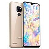 4G Handy ohne Vertrag, 32GB + 3GB Android 9, 6,1 Zoll Tautropfen Display, Dual SIM Triple Slot DREI Kamera, Fingerprint + Face Unlock, Global LTE Smartphone,...