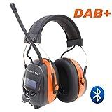 Protear Gehörschutz mit DAB + / FM-Radio und Bluetooth, kabellose Kopfhörer mit Geräuschunterdrückung für die Werkstatt, Garten/Mähen, CE-zertifiziertes...