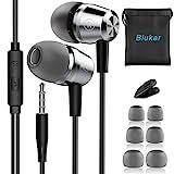 In-Ear Kopfhörer, Blukar Geräuschdämmende Ohrhörer Kopfhörer Stereo und HiFi-Klang, mit Weichen und Komfortablen Ohrstöpseln und Ideal für iPhone, iPad,...