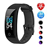 Juboury Fitness Armband mit Pulsmesser Blutdruckmesser, Fitness Tracker Smartwatch Wasserdicht IP68 Aktivitätstracker Schrittzähler Uhr Damen Herren...
