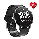 BingoFit Fitness Armbanduhr Wasserdicht Smart Watch Fitness trackers Sport Uhr mit Schrittzähler, Pulsmesser, Kamerasteuerung, Musiksteuerung, Schlaf-Monitor, Call SMS für Android iPhone Handy