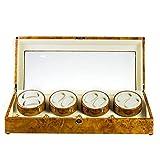 L.HPT Uhrenbeweger für Automatikuhren für 8,Automatische Uhrenbeweger Box Uhrenbox Uhrenboxen Uhrenaufbewahrung Uhrenkasten Uhrenvitrine Uhrenschatulle Gelb
