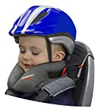 Sandini SleepFix Kids Bike - Kinder Schlafkissen/Nackenkissen mit Stützfunktion, Temperaturausgleich - Kindersitz-Zubehör für Fahrrad und Fahrradanhänger - Verhindert Abkippen des Kopfes im Schlaf