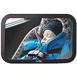 Fluffys World Rücksitzspiegel für Babys - Bruchsicherer Auto-Rückspiegel für Babyschale - Autositz-Spiegel für Kleinkinder