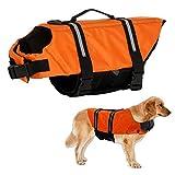 Warmiehomy Hundeschwimmweste Schwimmweste für Hund Reflektierend Rettungswesten Schwimmtraining für Hunde/Haustiere Sommer Badebekleidung für Haustiere,...