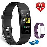 Juboury Fitness Armband mit Pulsmesser, Fitness Tracker Farbdisplay Wasserdicht IP67 Activity Tracker Uhr Smart Watch mit iPhone Android Geschenk Für Damen...