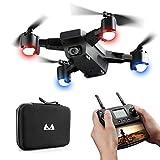 Kingko  SMRC S20 1080P Drohne WiFi FPV 2.4G GPS RC Spielzeug Quadcopter Faltbare Drohne Hold-Modus, Headless-Modus R/C-Abstand: Ungefähr 100-150 Meter (Weiß)