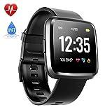 Hommie Touchscreen Smartwatch Wasserdicht IP67 Smart Watch Uhr mit Pulsmesser Fitness Tracker Sport Uhr mit Schrittzähler