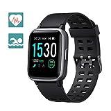 Arbily Smartwatch Fitness Armbanduhr Fitness Tracker für Damen Herren Kinder, Sportuhr mit Schrittzähler Pulsmesser Wasserdicht IP68 zum Schwimmen, Smart...