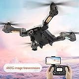 Hunpta@ Drohne,X-328 WiFi HD 4K 120 ° Weitwinkelkamera Doppelter GPS-Höhenstand Brushless Quadc RC Quadcopter (Schwarz)