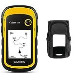 Garmin eTrex 10 GPS Handgerät - 2,2' Touchdisplay, Batterielaufzeit bis 25 Std., großer interner Speicher + Zubehör Etrex 10/20/30 Tragetasche mit Sichtfenster, 010-11734-00