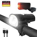 LIFEBEE LED Fahrradlicht, LED Fahrradbeleuchtung StVZO Zugelassen USB Wiederaufladbare Frontlicht und Rücklicht Set, Fahrradlampe, 2 Licht-Modi, Fahrradlichter...