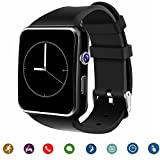 Tagobee TB-01 Bluetooth Smartwatch mit Kamera Musik-Player unterstützt SIM/TF-Karte 2.5d Touchscreen für Android-Handys und iPhone(Teilfunktion) schwarz