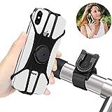 BAONUOR Handyhalterung Fahrrad, Abnehmbare handyhalter Fahrrad Face ID/Touch ID kompatibel, 360° drehbar, Universal Motorrad/Fahrrad Silikon Handy Halter, für...