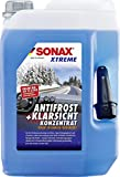 SONAX XTREME AntiFrost+KlarSicht Konzentrat (5 Liter) ergibt bis zu 15 Liter Winter-Scheibenwaschwasser, sofort mischbereit, schlierenfrei, Antikalk-Effekt  ...