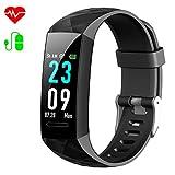 HETP Fitness Armband mit Blutdruck, Fitness Tracker Uhr Pulsmesser Wasserdicht IP67 Blutdruckmesser Schrittzähler Uhr Stoppuhr Sport GPS Aktivitätstracker...