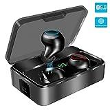 Bluetooth Kopfhörer in Ear, YONMIG Kabellos Bluetooth 5.0 Headset mit 3000mAh Portable Ladekästchen Wireless Noise Cancelling Earbuds 90H Stunden Spielzeit...