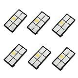 Fulltime 6 Stück Ersatz Hepa Filter für iRobot Roomba 800 870 880 Serie Staubsauger Ersatzteil Kit