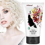 MS.DEAR Opa Weiß Haarwachs 120g, Temporäre Haarfärbe Wachs, Professionelle Hair Wax Haar Pomaden, Hair Styling Flauschige Haar Schlamm Gel Creme für Partei,...