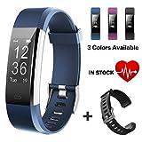 Lintelek Fitness Armband Fitness Tracker wasserdichter IP67-Schrittzähler Aktivitäts-Tracker für Herzfrequenzmonitor mit angeschlossenem GPS-Tracker,...