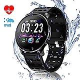 CanMixs CM10 Smart Watch, IP67 Wasserdichte Fitnessuhr Activity Tracker 1,3-Zoll-IPS-Farbbildschirm mit Pulsmesser, Schrittzähler, Schlafmonitor...