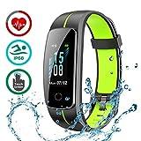 LATEC Fitness Armband mit Pulsmesser, IP68 Wasserdicht Fitness Tracker Farbbildschirm Aktivitätstracker Pulsuhren Schrittzähler Uhr Smartwatch 14...