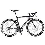 SAVA Kohlefaser Rennrad 700C SHIMANO 5800 22-Gang-Kettenschaltung Rennräder (Grau, 48cm)