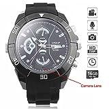 WISEUP 16GB 1280x720P HD Spycam Armbanduhr Tragbare Versteckt Kamera Uhr Mini Videorecorder mit SD Karte Aufzeichnung