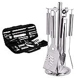 AYOUYA Grillzange Küchenzange Universalzange 34cm aus Edelstahl für Grillen, Kochen, Backen & Servieren