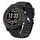 HolyHigh Bluetooth Smartwatch Fitness Tracker Sport Uhr Smart Watch mit IP68 Wasserdicht Herzfrequenz Blutdruckmessung Blutsauerstoff Monitor Schrittzähler mit...