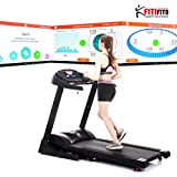 Fitifito FT880 Profi Laufband 7,5PS 22km/h mit 10,1 Zoll Touchscreen Android Wifi App 22 Trainingsmodulen inkl. HRC