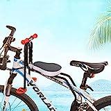 Elitlife Kindersitz, Modischer Abnehmbarer Fahrrad-Vordersitz Kindersitz Pedal mit Griff für Herrenfahrrädern und Damenrädern Fahrradsitz Vorne Wiegen für Kinder Baby Maximales ...