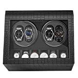 HBselect Uhrenbeweger luxuriöser automatischer Uhrenwender Uhrenvitrine für Automatikuhren, Watch Winder (4+6 Uhren)