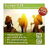 Europa V.18 - Profi Outdoor Topo Karte kompatibel zu Garmin Geräte – Perfekt für den Urlaub