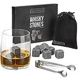 GOURMEO Whisky Steine (9 Stück) aus natürlichen Speckstein I 2 Jahren Zufriedenheitsgarantie I wiederverwendbare Eiswürfel, Whiskysteine, Whisky Stones,...