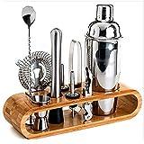 ZUEN Cocktail Shaker Set, Edelstahl Shaker Cocktail Set Whisky Stones Cocktail Mit Ständer Für Home Und Professional Bartending Kit