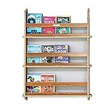JAUTO Bücherregal Wandregal Hängeregal wandablage kinderregal Aufbewahrungsregal Regal mit 1-3 Ablagen für Bücher und Deko