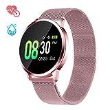 Smartwatch mit Pulsmesser, GOKOO Fitness Armband Wasserdicht IP67 Fitness Tracker Aktivitätstracker Pulsuhren mit Kalorienzähler Schlafmonitor für Damen...