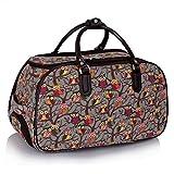 LeahWard Damen-Reisetasche für Mädchen Handgepäck Reise Koffer Urlaub Schultaschen 005 (S GRAU EULE)