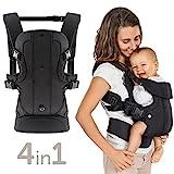 Fillikid - Ergonomische Babytrage / Kindertrage 4in1 - Bauchtrage, Rückentrage, variable Blickrichtung / mitwachsend, verstellbar - für Neugeborene &...