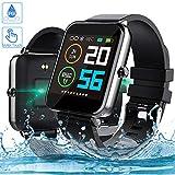 Smartwatch, Zagzog 1,54 Zoll Voller Touch Screen Bluetooth Smartwatch Wasserdicht IP68 Fitness Tracker GPS Sportuhr Armband Pulsuhren Schrittzähler Herren...