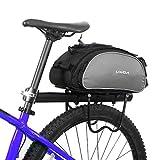 Lixada 13L multifunktionale Fahrrad Tasche Pannier Rücksitz Tasche Handtasche Umhängetasche(ohne Gürtel)