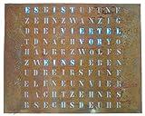 build-yours Wordclock 50x40 cm leuchtet rostigen Stahl Look