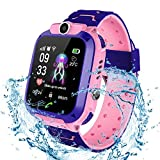 Bhdlovely Kinder SmartWatch Digital Camera Watch with Games, Taschenlampe and 1.44 inch Touch LCD for Boys Girls Birthday (Blau) (S12 PINK)