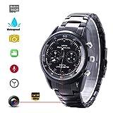 Spionage Uhr Kamera FHD 1920 * 1080P Wasserdichte Versteckte Smartwatch Infrarotkamera Eingebaute Speicherkarte 16G