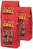 Feuer & Flamme GrillKetts Holzkohle Briketts im 3er-Sparpack, 3x10 kg