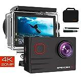【2019 NEU】 Apexcam Pro Action Cam 4K 20MP Sportkamera WiFi Unterwasserkamera 2.4G Fernbedienung Wasserdicht 40m 2.0 Zoll LCD Bildschirm 170 ° Weitwinkel...