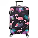 Youth Union Kofferhülle Elastisch Koffer Schutzhülle Flamingo Muster 18-32 Zoll Luggage Cover Protector Kofferschutzhülle mit Reißverschluss (Flamingo 5,...