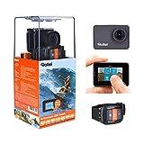 Rollei Actioncam 550 Touch - WiFi Action Cam mit 2' Touchdisplay und 4k Video Auflösung, ultra schnelle 0,5 Sekunden Fotointervallaufnahmen mit 160° Super-Weitwinkel-Objektiv,Videobildstabilisierung, Windgeräusche Reduktion, bis 40 m wasserdicht, inkl. Unterwasserschutzgehäuse und Fernbedienung